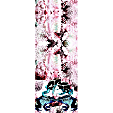 Frogs & Feathers Pink Small Scarf image