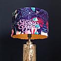 Midnight Florals Lampshade In Shimmer Velvet (30cm) image