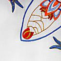 Amsterdam Spring Mandala Embroidered Linen Kimono Top White image
