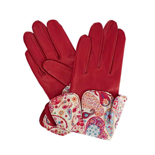 Palesa Fucshia Pink Leather Gloves With Md Liberty Tana Lawn