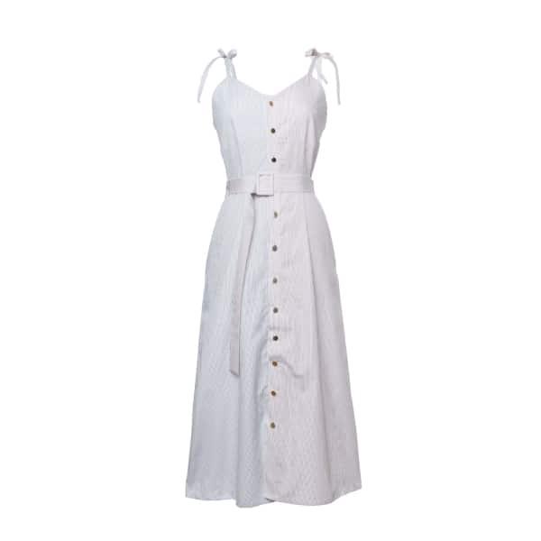 Tomcsanyi Szavay Blue Colour Block Tie Cami Dress