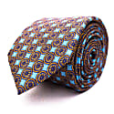 Wheels - Blue - Hand Finished Silk Tie image