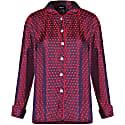 Clacie Silk Pajama Shirt Plum image