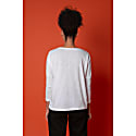 Ladybird Embroidered Dropped Shoulder T-Shirt White Women image