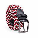 Braided Viscose Belt Red/Black/White Luigi image