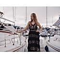 Black Sundown Handmade Knit Dress image