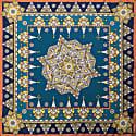 Metal Mandala Bandana Silk Twill Scarf image