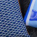 Azure Leather & Cotton Cushion image