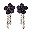 Earrings Shine Like A Star Black & White Flower image