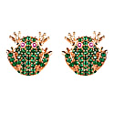 The Frog Prince Stud Earrings Rosegold image