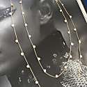 Stardust Scattered Stars Gold Double Strand Necklace image