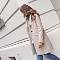 Wool Cashmere Tailored Coat Bisque image