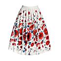 Poppy Floral Print Midi Skirt image