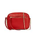 Vegan Leather Thea Cross Body Bag - Red image