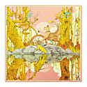 The Jungle Silk Scarf Pink Gold image