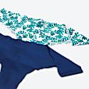 Naked Intimates Fern Blue Scallop Seamless Thong image