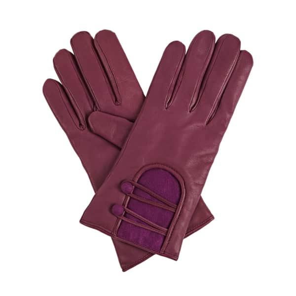 GIZELLE RENEE Catherine Purple Lined Gloves