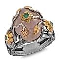 Rosa Rose Quartz Emerald Ring image