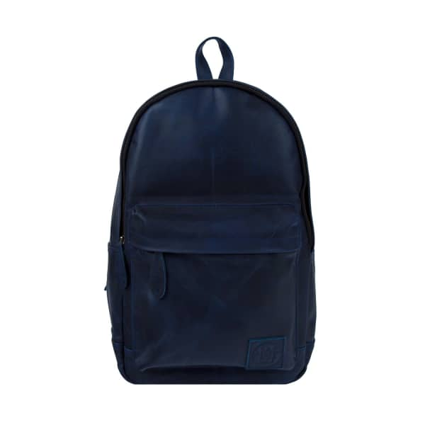 MAHI LEATHER Leather Classic Backpack Rucksack In Navy