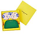Boxed Bee & Hydrangea Eyemask & Green Cosmetics Case Gift Set image
