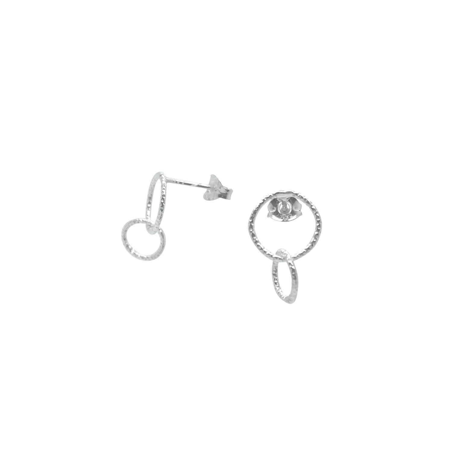 edd5a549b6c Circle Linked Stud Earrings Sterling Silver by Lucy Ashton Jewellery