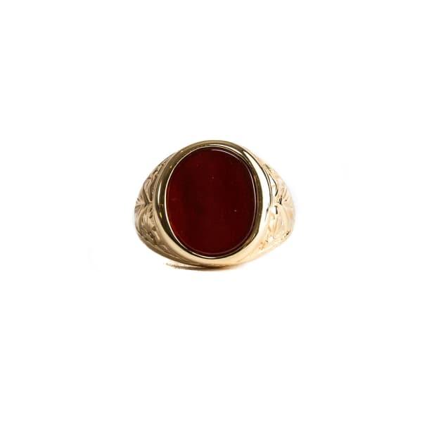 SERGE DENIMES RED AGATE RING
