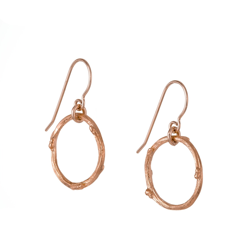Chupi - Hawthorn Twig Infinity Earrings Rose Gold