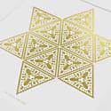 Beetlegeuse Star Print Gold & White image