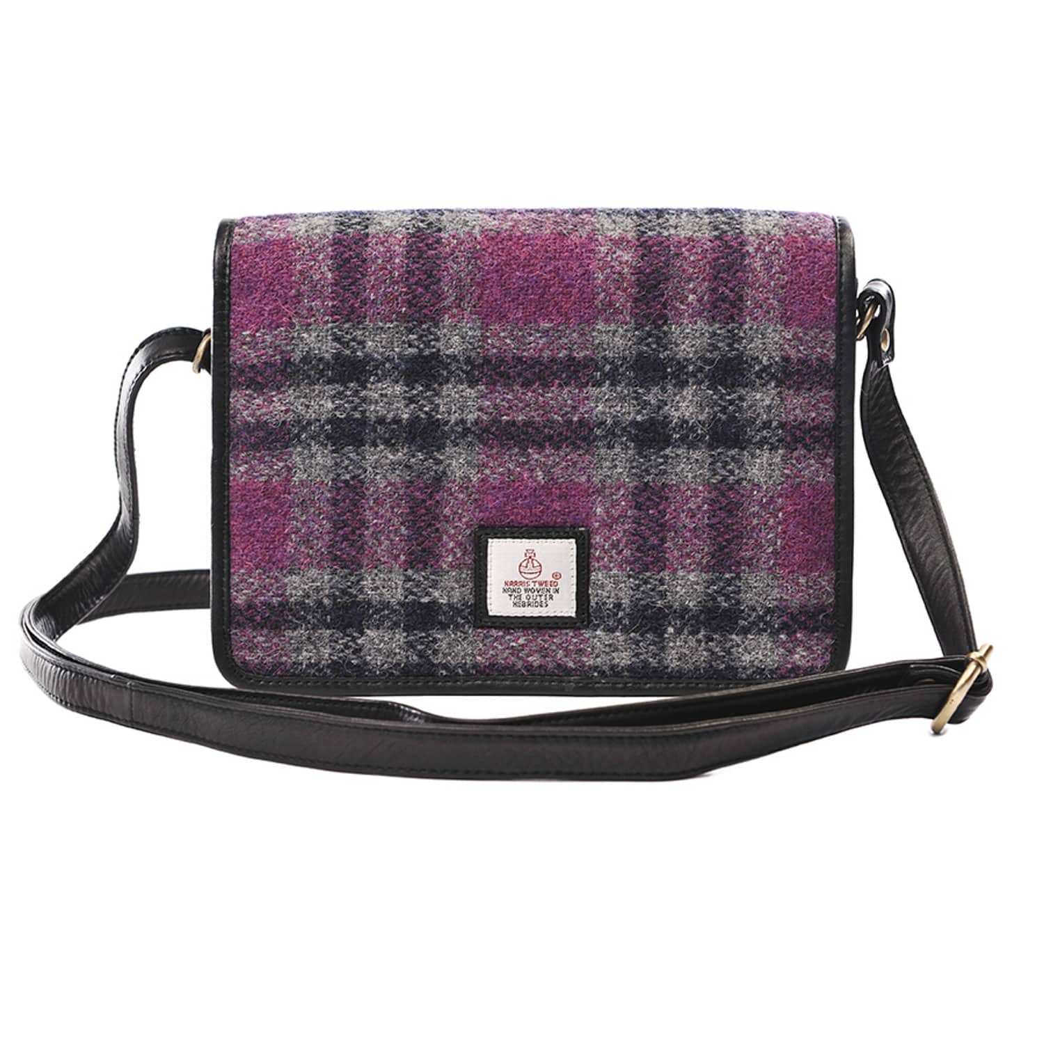 46f61f4a39e0 Pink Harris Tweed Cross Body Bag image
