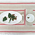 French Country Red Stripe Table Runner image