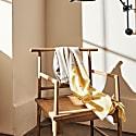 Studio Altar For Allpa : Handwoven Alpaca Throw - Yellow & Grey image