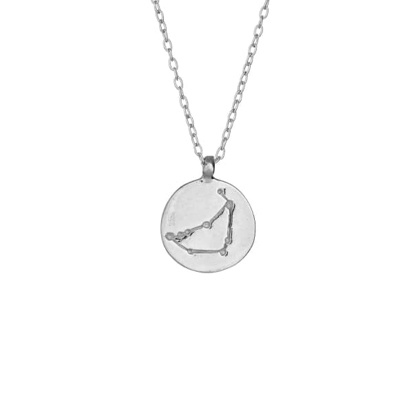 CHUPI Capricorn We Are All Made Of Stars Star Sign Necklace In Silver