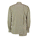 Slim-Fit Print Shirt With Asymmetric Pleated Back – Yellow image
