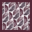 The Feather Pocket Square Maroon image