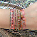 Set Of Three Bracelets In Pink & Silver Tones image