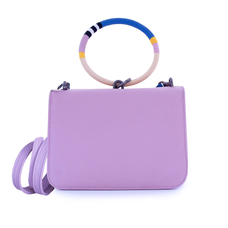 031b2408d9 Pastel Pink Hoop Cross-body Handbag | ROSEHIP & WILD | Wolf & Badger