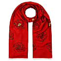 Golden Anther Red Embroidered Stole image