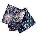 Dark Navy Satin Printed Pocket Square 24X24Cm image