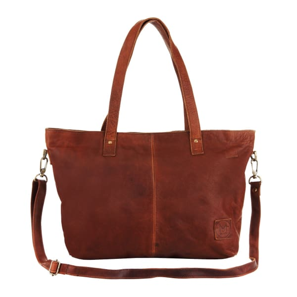 MAHI LEATHER Leather Tote in Vintage Brown