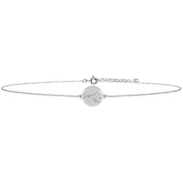 Scorpio Zodiac Constellation Choker Diamonds & Silver