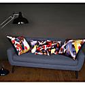 Koi Ii Large Velvet Floor Cushion Cover Style One image