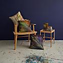 Gold & Silver Palm Leaf Linen Cushion image