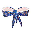 Saint James Strapless Bandeau Top Blue Orange Leopard image