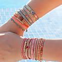 Pink Agate Handwoven Bracelet image