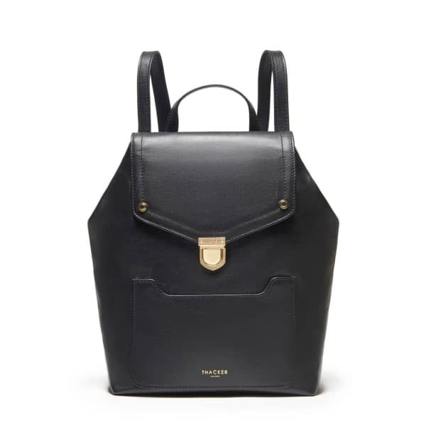 THACKER NEW YORK Frankie Backpack In Black & Gold