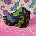 Black Psychedelic Tigers Print Non-Medical Face Mask image
