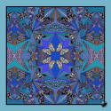 Butterfly & Lupin Pocket Square Cornflower image