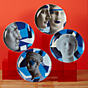 Wall Decor Plate in Artemis Blue image