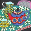 Floral Cloth & Teapot Print image