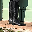 Gilt Black Leather Boots image